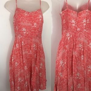 Old navy pink and white spaghetti strap dress SP